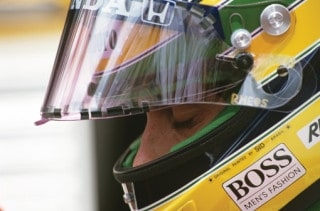 Senna with helmet