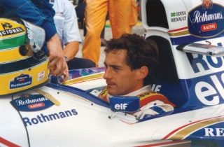 Senna in f1 car