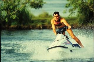 Senna on jet ski