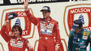 Senna on podium